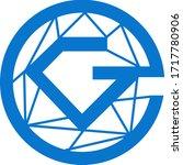glitzkoin token coin logo... | Shutterstock .eps vector #1717780906
