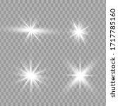 glowing light stars with... | Shutterstock .eps vector #1717785160
