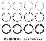 vector set of circle arrows... | Shutterstock .eps vector #1717803823