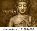 Shining And Glowing Buddha In A ...
