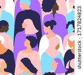 women pattern femenism... | Shutterstock . vector #1717824823