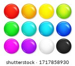 realistic blank badges... | Shutterstock .eps vector #1717858930