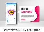 phone banner template. mega... | Shutterstock .eps vector #1717881886