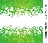 dollar background | Shutterstock .eps vector #171790778
