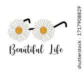 daisy quote glasses design.... | Shutterstock .eps vector #1717908829