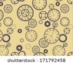 vintage clocks pattern  ...   Shutterstock .eps vector #171792458
