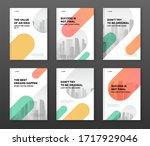 corporate brochure cover design ... | Shutterstock .eps vector #1717929046