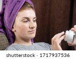 portrait of a beautiful woman... | Shutterstock . vector #1717937536