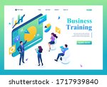 business coach trains employees ... | Shutterstock .eps vector #1717939840