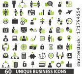 set of 60 business icons. | Shutterstock .eps vector #171794354