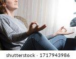 portrait of a girl relaxing on... | Shutterstock . vector #1717943986
