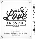 happy valentine's day lettering ... | Shutterstock .eps vector #171795323