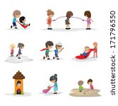 children on the playground  ... | Shutterstock .eps vector #171796550