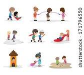 children on the playground  ... | Shutterstock .eps vector #171796550
