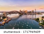 Sunrise In Sydney City   Aeria...