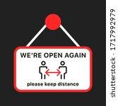 open again after quarantine ...   Shutterstock .eps vector #1717992979