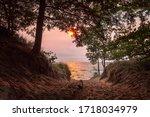 Sunset On Lake Michigan At...