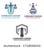 blue black red symbol law...   Shutterstock .eps vector #1718046010