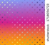 holographic hearts on gradient...   Shutterstock . vector #1718056723