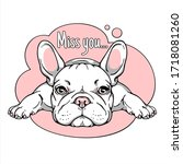 Cute Cartoon French Bulldog....