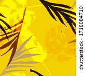 palm  banana leaves vector... | Shutterstock .eps vector #1718084710