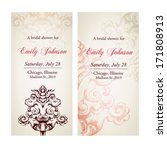 vintage invitation card set | Shutterstock .eps vector #171808913