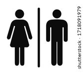 girls and boys restroom sign.... | Shutterstock .eps vector #1718091979