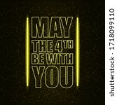 may the 4th be with you holiday ... | Shutterstock .eps vector #1718099110