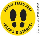 social distancing concept for... | Shutterstock .eps vector #1718113033