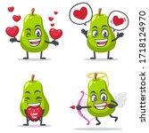 vector illustration of pear... | Shutterstock .eps vector #1718124970