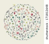 circle with flowers | Shutterstock .eps vector #171812648