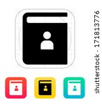 contact book icon. vector...