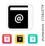 address book icon. vector...