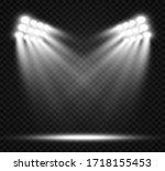 white scene on with spotlights. ... | Shutterstock .eps vector #1718155453