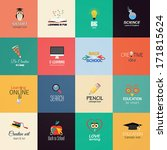 set of education icons. vector | Shutterstock .eps vector #171815624