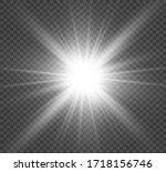 white beautiful light explodes... | Shutterstock .eps vector #1718156746