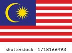 Malaysia flag vector graphic. Rectangle Malaysian flag illustration. Malaysia country flag is a symbol of freedom, patriotism and independence.