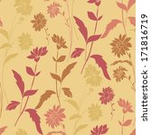 vector seamless pattern with... | Shutterstock .eps vector #171816719