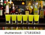 shots on a bar counter top | Shutterstock . vector #171818363