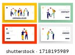 characters greeting each other...   Shutterstock .eps vector #1718195989