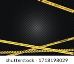 the intersecting yellow in a... | Shutterstock .eps vector #1718198029