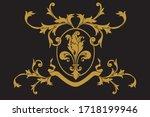a coat of arms crest heraldic... | Shutterstock .eps vector #1718199946