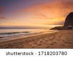 Pink Gold Sunset At The Malibu...