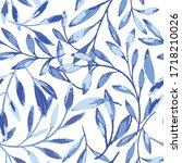 Vector Blue Gouache Textured...