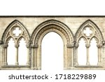 Gothic Arches Isolated On White ...