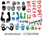 image of various prints and... | Shutterstock .eps vector #171823406