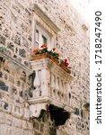 Old Venetian Small Balcony With ...