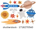 set of funny isolated...   Shutterstock . vector #1718270560