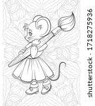 cute little mouse artist on a...   Shutterstock .eps vector #1718275936