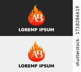 initial letter ab capital logo... | Shutterstock .eps vector #1718286619